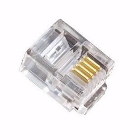 Conector/plug Rj-11/12 4x4 Vias Monofone 500-peças