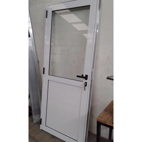 Zona La Plata Puerta De Aluminio De 800 X 2000 50% Vidrio