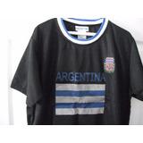 Camiseta Argentina Talla M - L Franela Fútbol Nueva Uniforme