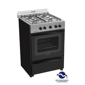 Cocina Escorial Master Inox 4 Hornallas Gas Natural