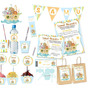 Kit Imprimible Arca De Noe Bautizo Primer Año Candy Bar