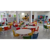 Conj.mesa/cadeiras Para Buffet Infantil - Em Alumínio/fibras