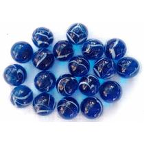 Bolinha De Gude Azul - Bila - Berlinde 50 Unidades