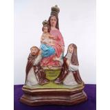 Excelente Antigua Figura Religiosa En Yeso Pintado (2322)