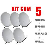 Antena Parabólica 60cm Banda Ku ( 5 Unidades )
