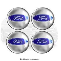 Kit 4 Emblemas Ford Resinado - Universal Para Linha Ford