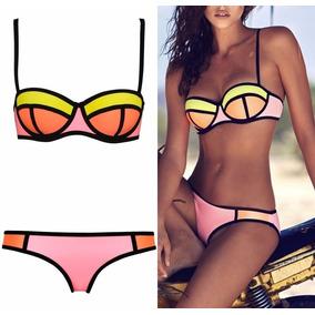 Bikini Licra Talla Chica 32 Traje De Baño Dama Push Up Top
