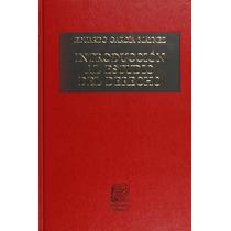Libro Introduccion Al Estudio Del Derecho