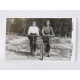 Foto Postal Antigua Piriápolis Mujeres En Triciclo Año 1952