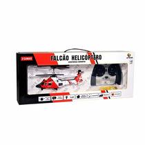 Mini Helicoptero Falcão 3 Canais 3 Metros Com Controle 23cm