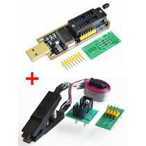 Programador Ch341a Usb 24/25 Eeprom Flash Bios + Pinza Soic8