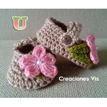 Zapatitos Divinos P/ Bebé Tejidos A Mano Crochet Más Modelos