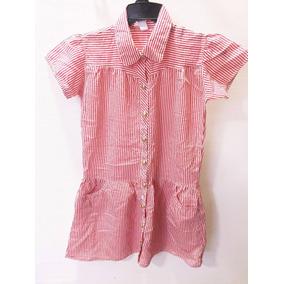 Vestido Infantil Zara Kids Estilo Chemisiê Tam.11-12anos