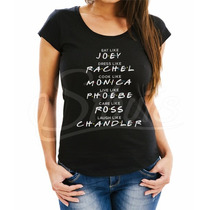 Playera Mujer Serie Tv Friends Joey, Rachel Ross Etc.