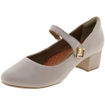Sapato Feminino Salto Baixo Amêndoa Ramarim - 1595106