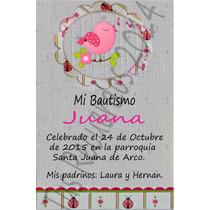 Tarjeta Estampita De Bautismo. Diseños Originales.