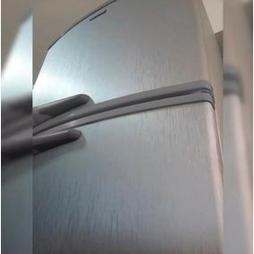 Adesivo Aço Escovado Inox Geladeira Moveis 7mx1m + Espatula