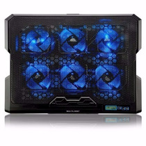 Cooler Para Notebook Com 6 Fans Led Azul - Ac282
