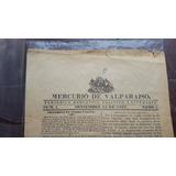 Vendo Primera Edicion El Mercurio De Valparaiso De 1827