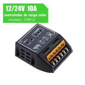 Controlador De Carga Solar 10a 12v / 24v