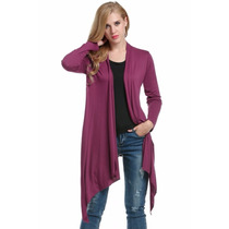 Tsuki Moda Asiatica: Cardigan Largo Irregular Formal Casual