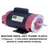 Motor Elétrico Weg 0,5cv.monofásico. 110-220v 1740rpm Novo