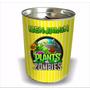 Plantas Vs Zombies Alcancia Cumpleaños Souvenir