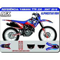 Adesivos - Ttr 230 2007 2015 - Alpinestar Rbw - Qualidade 3m