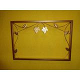 Moldura Em Ferro Sem Espelho 60x40cm Dourada Frete Grátis