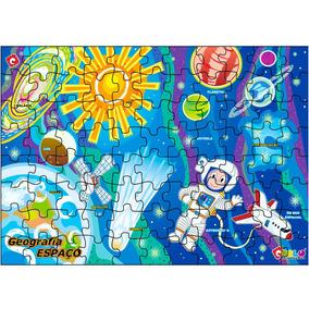 Quebra Cabeça Geografia Espaço Cósmico Mdf 1502 Carlu