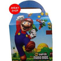 Mario Bros Loncheras Cajitas Articulos De Fiesta