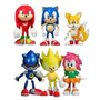 Sonic The Hedgehog Set X6 Figuras Original Team Sega En Caja