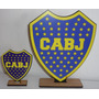 20 Souvenirs Boca + 1 Central En Fibrofacil Boca Cotillon