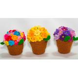 Macetitas De Flores Al Crochet