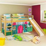 Cama Infantil Com Escorregador E Tenda Castelo Princesa - Ma