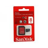 Cartão De Memória Sandisk 8gb Para Motorola Iron Rock Xt626