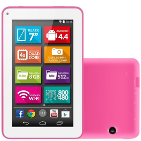 Tablet M7-s, Rosa Tela 7 Wifi Android 4.4 2mp 8g Multilaser