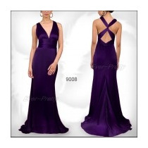 Vestido Largo De Fiesta Morado Marca Ever Pretty