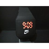 Relógio Masculino Nike Preto Com Ld Vermelho.