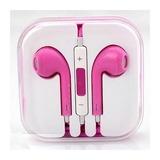 Fone De Ouvido Rosa Para Celulares Universal Samsung Apple