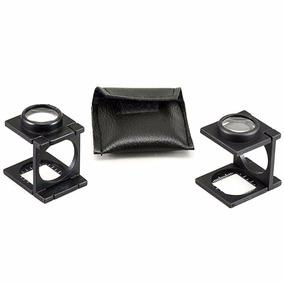 Lupa Conta Fios Em Alumínio Ampliação 15x Escala 20mm +bolsa