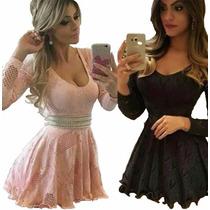 Vestidinho Curto Colado Festa Elegante Lindo Panicat #vc5 Am