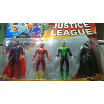Kit Liga Da Justiça Superman,flash,lanterna Verde,batman