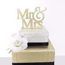 Cake Topper Mr & Mrs, Topper Para Pastel, Figuras Pastel