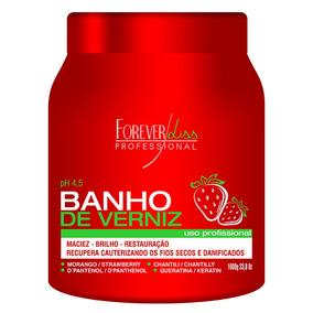 Forever Liss Banho De Verniz Morango - Máscara Capilar 1kg