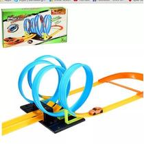 Pista Looping 360º Tipo Hot Wheels + Carrinho 4 Voltas