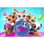 Painel Decorativo Festa Infantil Littlest Pet Shop (mod5)