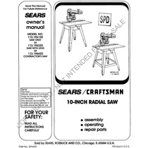Sierra De Brazo Radial Craftsman 10 Pulg Made In Usa