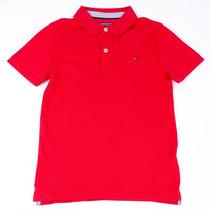 Camisa Polo Infantil Masculina Tommy Hilfiger Manga Curta