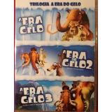 Dvd A Era Do Gelo Trilogia 3 Dvds. Original Lacrado.